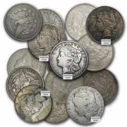 20 MORGAN AND PEACE SILVER DOLLARS MIX CULL $22 EA