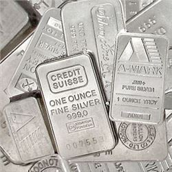Fifty 1 oz Pure Silver Bars W/Morgan Imprint .999 Pure Silver