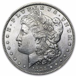 1883 Morgan Dollar BU MS-63