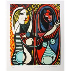 Pablo Picasso GIRL BEFORE A MIRROR Estate Signed Limited Edition Giclee W/COA