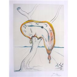 "Salvador Dali ""Tearful Softwatch"".  Limited Edition Lithograph W/COA 22'X17"""