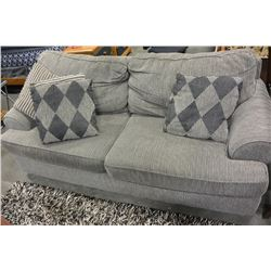 Pillowback Sofa And Matching Loveseat And Throw Pillows