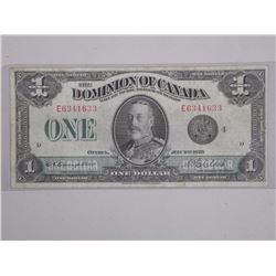 Dominion of Canada July 2nd 1923 One Dollar Bill. C.E. Campbell and W.C. Clark.
