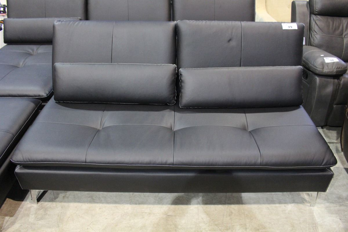 Leather convertable sofa bed with throw cushions Leather sofa throws