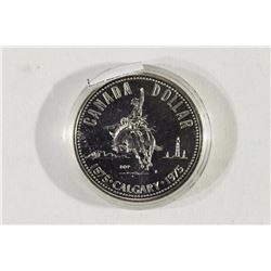 1975 CANADA CALGARY SILVER DOLLAR PROOF