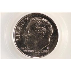 2006-D ROOSEVELT DIME PCGS MS69 SATIN FINISH