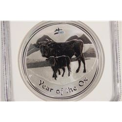 2009-P AUSTRALIA SILVER DOLLAR YEAR OF THE OX