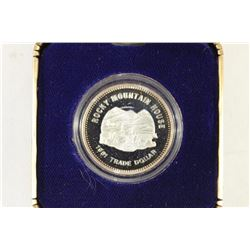 .999 FINE SILVER PROOF ROUND ROCKY MT.  HOUSE