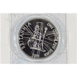 2011 UNITED KINGDOM 1 OZ. FINE SILVER 2 POUND