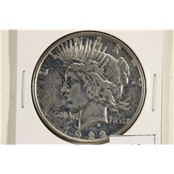 1922-D PEACE SILVER DOLLAR POLISHED