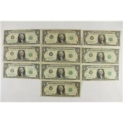 10-1963-B $1 FRN'S JOSEPH W. BARR NOTES