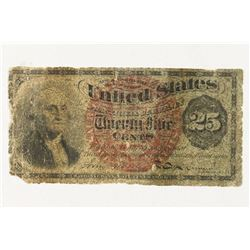 CIVIL WAR 25 CENT US FRACTIONAL CURRENCY