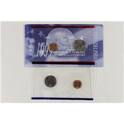 1999 P & D SBA DOLLAR UNC COIN SET