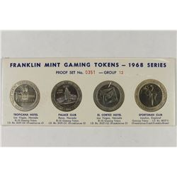 1968 SERIES GROUP 12 FRANKLIN MINT GAMING TOKENS