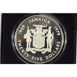1979 JAMAICA SILVER PROOF $25 4.046 OZ. ASW