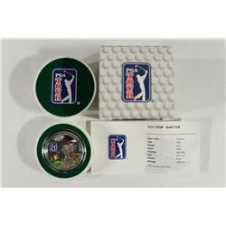 2013 COOK ISLANDS $5 SILVER PROOF PGA GOLF CLUB