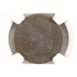 1826 US HALF CENT NGC VERY GOOD DETAILS