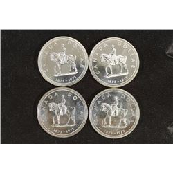 4-1973 CANADA RMCP SILVER DOLLARS PROOF