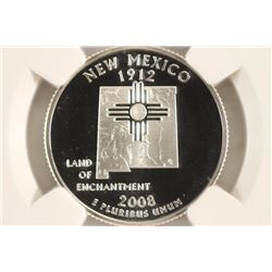 2008-S SILVER NEW MEXICO QUARTER NGC PF69