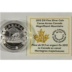 2015 CANADA $10 FINE SILVER COIN PROOF