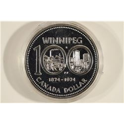 1974 CANADA WINNIPEG SILVER DOLLAR PROOF .3750 OZ