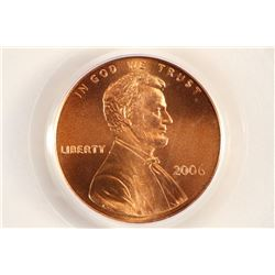 2006 LINCOLN CENT PCGS MS68RD SATIN FINISH