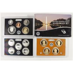 2014 US SILVER PROOF SET (WITH BOX) 14 PIECES