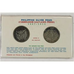 1908 & 1909 US PHILIPPINES SILVER PESOS SALVAGED