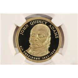 2008-S JOHN QUINCY ADAMS DOLLAR NGC PF70 ULTRA CAM