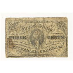 1863 3 CENT US FRACTIONAL CURRENCY