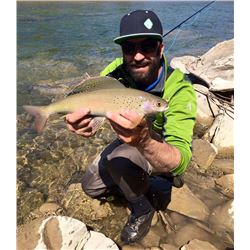 Sensational Athabasca River 2 Day Guided Fly Fishing Float Trip for Two