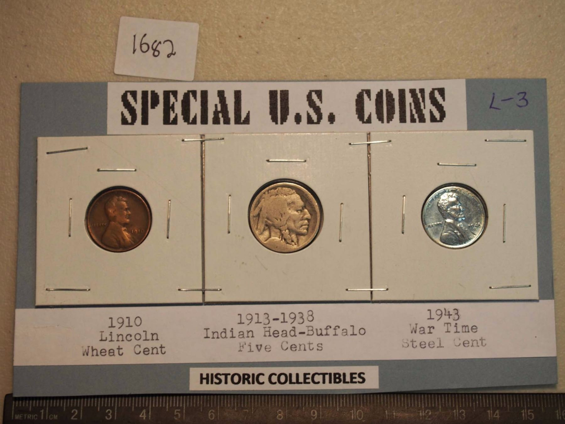 Special US Coins 1910 1 Cent Lincoln Wheat 1913 1938 5 Cents