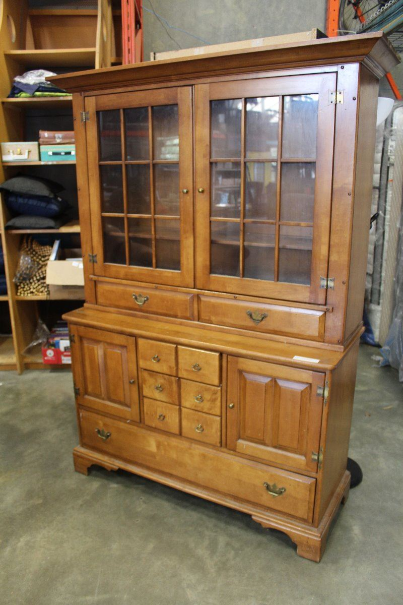 Image 1 : 2 PIECE UNIQUE FURNITURE MAKERS COUNTRY CABINET ...