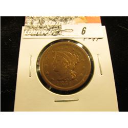 1851 U.S. Large Cent,F-VF.