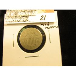 1876 U.S. Shield Nickel,AG, decent reverse.