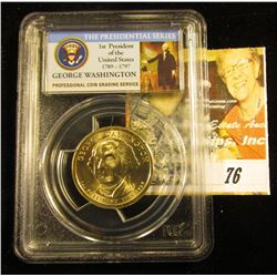 "(2007) ""Mint Error slabbed PCGS MS 64 George Washington (Dollar) Missing Edge Lettering"""