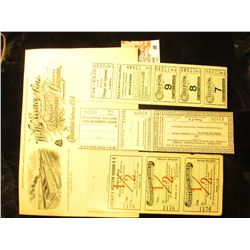 "Stub dated 1-12-11 ""Chicago & Western Indiana R.R. Agent's Stub Round Trip Ticket"" with red ""1/2"" ov"
