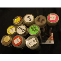 "(10) Rolls of Lincoln Cents in plastic tubes, all marked ""Old"", a cursory look finds at least one 19"