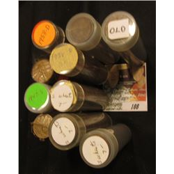 "(11) Rolls of U.S. Wheat Cents in plastic tubes or plastic wrappers, a couple rolls are labeled ""S W"