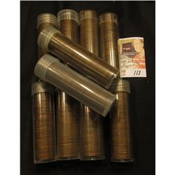 (10) Rolls of San Francisco U.S. Wheat Cents in plastic tubes.