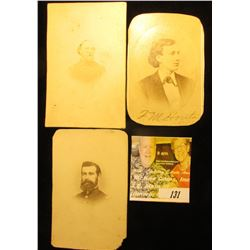 "(3) different black & white Civil War Era Photos. includes ""F.M. Houts"", ""Jas. V.Z. Phaney"", & Ged S"