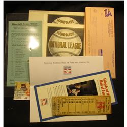 """Twin Cities Motor Coach Co."" Ticket book; ""Friends of the Hall of Fame"" Contribution Card; pair of"