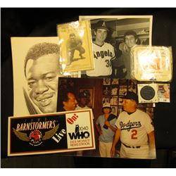 A Nice Group of Base Ball Memorabilia including sketchings of Lynn McGlothen, black & white stills;