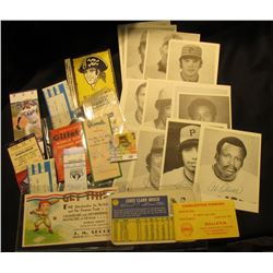 "Large Size Base Ball Card ""Louis Clark Brock""; ""1954 Edition Gillette World Series Record Book""; ""Ce"
