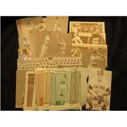 Large group of large format Baseball Cards, which 'Doc' used to sell at $5 each.