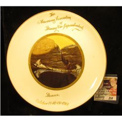 "8"" China Saucer ""The American Association of Dining Car Superintendents Denver October 17-18-19-1912"