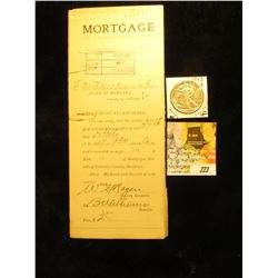 "1917 Mortgage from the County of Gallatin, State of Montana signed by Deputy ""B Wilhaus""; & 1943 S W"