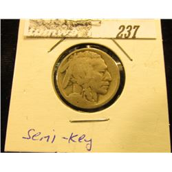 1915 S Buffalo Nickel, G-VG. Semi-key date.