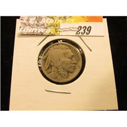 1917 D Buffalo Nickel, VG-Fine.