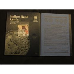 1863-1907 Partial Set of Indian Head Cents in a Whitman folder. (22 pcs.)